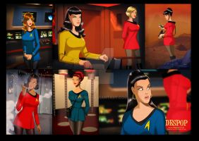 Star Trek- All female crew of the USS Aphrodite by DESPOP