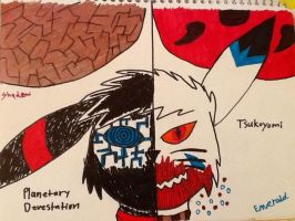 Planetary Devistation and Tsukoyomi by Silver-Atlas