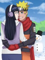 NaruHina - First Snow by Chloeeh