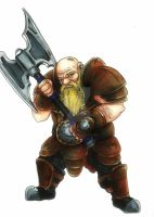 Dwarf Warrior by Phantagrafie
