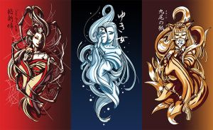 Japanese Myth Sisters by yohat