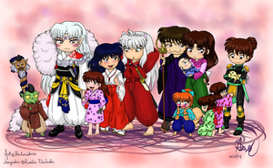 Inuyasha and Company by Healmistress