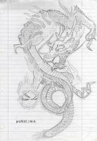 Ed Hardy - Dragon - Drawing by profil10
