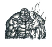 F4: The Thing and Human Torch by force2reckon