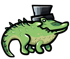 an alligator with a hat by DevianJp824