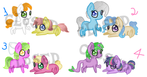 Chibi Pony Ship Adoptables /CLOSED by 9-ToyBonnie
