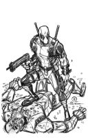 Dead Pool digital pencils by JoeyVazquez