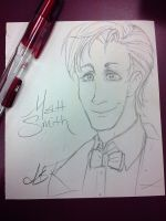 Work Doodle: The 11th Doctor by chai--tyto
