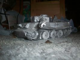 Papercraft Tiger 1 #1 by Warrior1990