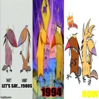 Evolution of The Angry Beavers by CartoonAnimes4Ever
