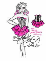 Design: Hot in Pink Corset by taeliac