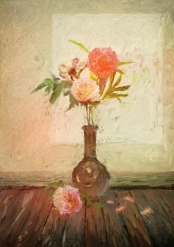 Peonies by Tiger-tyger
