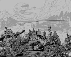 OrK Invasion sketch by HenryPonciano