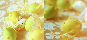 Easter eggs and bunny by SelenaAdorian