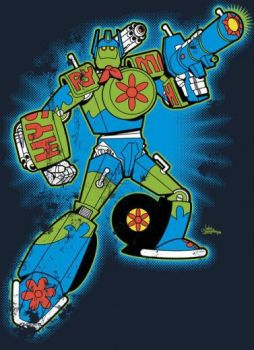 Mystery Machine Transformer by Cardformer