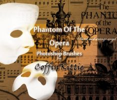Phantom Of The Opera Brush Set by coffinkittie