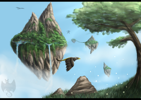 Islands in sky by NightFury1020