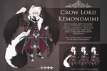 .:OPEN ADOPT:. Crow Lord Kemonomimi by ValyrianAdopts