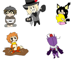 Adventure Saul, Duncan, Spinelli, Luella and Flynn by BabyGryphon