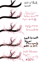 Cherry Blossom Tutorial by Owl-Flight