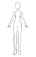 Pose Study #2- Female Body Shape by Aumae-chan