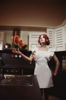 Triss at the Kitchen by adelhaid