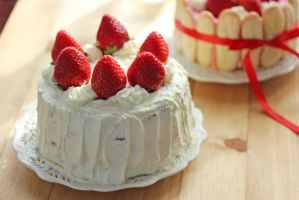 Japanese-Style Strawberry Shortcake by StrangeWonderland