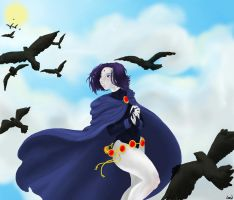 Raven in the sky by magicalavatarian