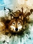 Wolf Painting In Photoshop by DJaanssen