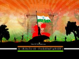 A TRIBUTE TO FREEDOM FIGHTER by vikas1307