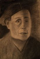 portrait of old lady by BlackAries13