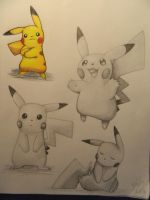 Pikachu poses :3 by christinelee71709