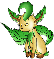 Leafeon by pamgomez