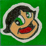 Buttercup Mini Canvas Magnet by awilli182