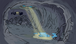 Gravity Falls cave by MF99K
