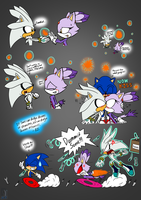 Dammit Sonic! - Silver and Blaze by AZ-Derped-Unicorn