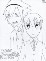 Soul and Maka by VAMPIRELG