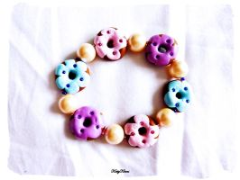 Sweetie Donut Bracelet by Cateaclysmic
