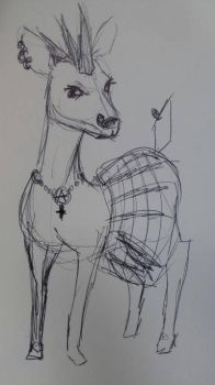 Deer Punk by Lazulina