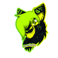 .:Commission:. Neonlights Badge by Obsidianthewolf