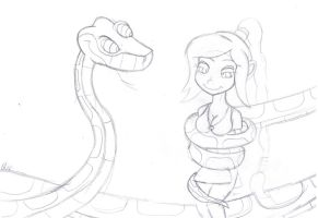 Kaa and Ty-lee sketch by lol20