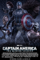 Captain America: Winter Soldier (Fan Made) Poster by DiamondDesignHD