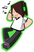 Minecraft: Deadlox and Music c: by The-Doodle-Ninja
