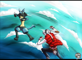 Lucario vs King Kazma by DredaSM