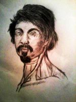 Anatomy neck experiment with Caravaggio's head by RedKronos92