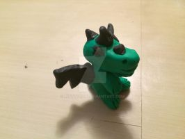 First Figurine I ever made with Sculpey III by Mistycrow