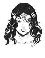 FCBD 2014 Sketches: Wonder Woman by Shono