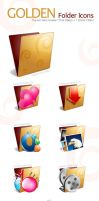 Golden Folder Icon Pack by akkasone