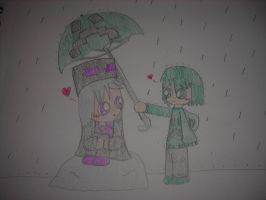 Minecraft - Criss x Ender - Caught In The Rain by Waddle-Dance