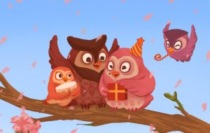 Family Portrait in Owls by vermilionalice